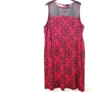 24 Asos Curve Mesh Illusion Yoke Dress
